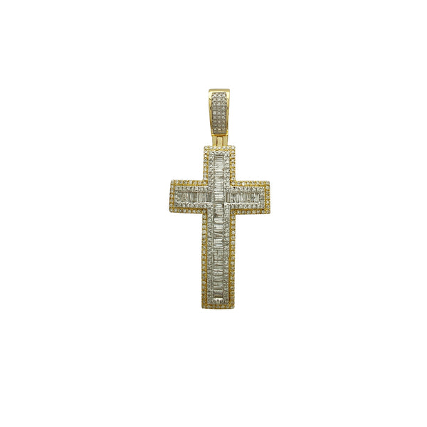 Diamond Cluster Concave Cross Pendant (14K) Popular Jewelry Νέα Υόρκη