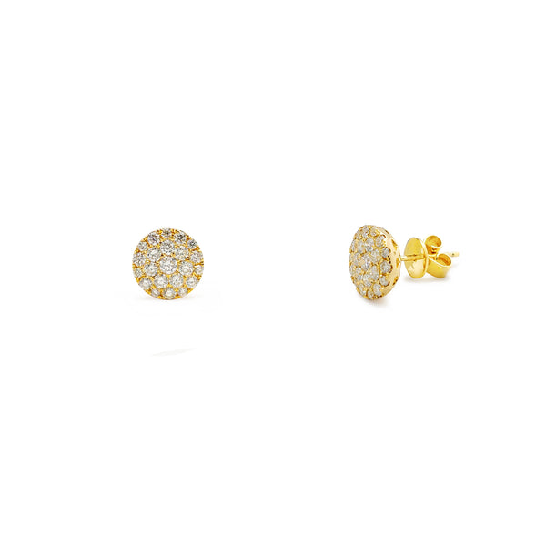 Diamond Cluster Round Stud Earrings (10K) Popular Jewelry New York