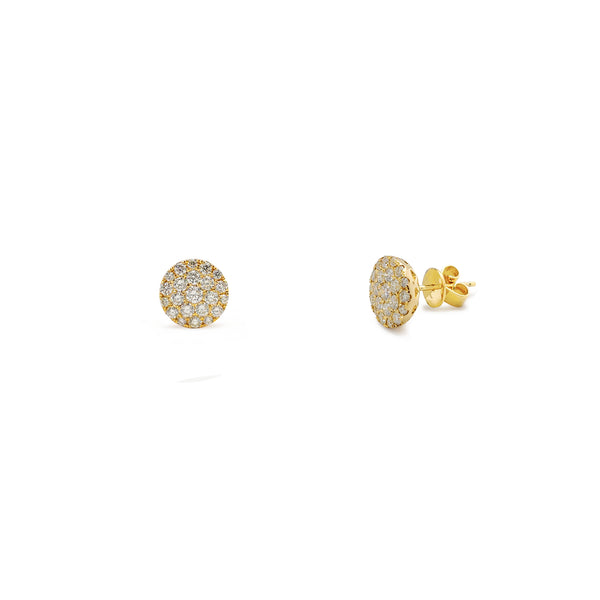 Diamond Cluster Round Stud Earrings (14K) Popular Jewelry New York