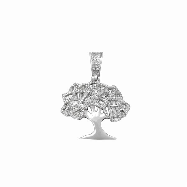 Pendente con albero a grappolo di diamanti (14K) Popular Jewelry New York