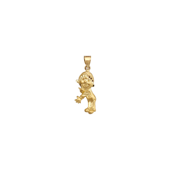 Diamond Cuts Boy Pendant (14K) Popular Jewelry New York