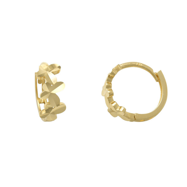 Diamond Cuts Butterfly Huggie Earrings (14K) Popular Jewelry New York