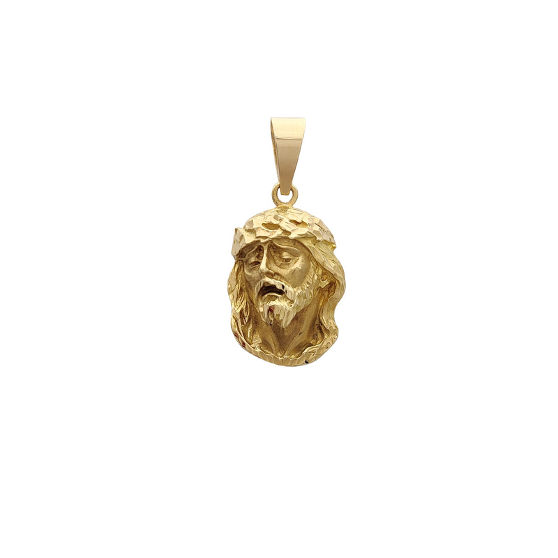 Diamond Cuts Jesus Head Pendant (14K) Popular Jewelry New York