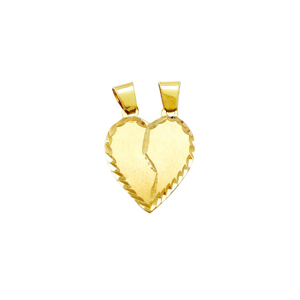 Diamond Cuts Matte-Finish Heart Pendant (14K) Popular Jewelry New York