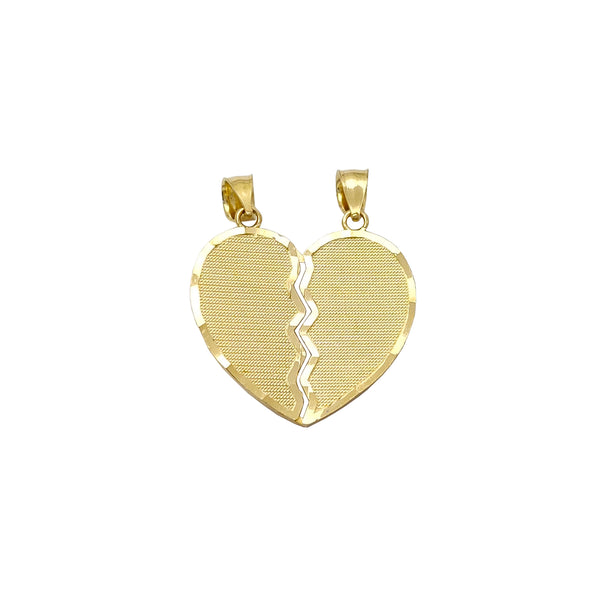 Diamond Cuts Scan-Line Partable Heart Pendant (14K) Popular Jewelry New York