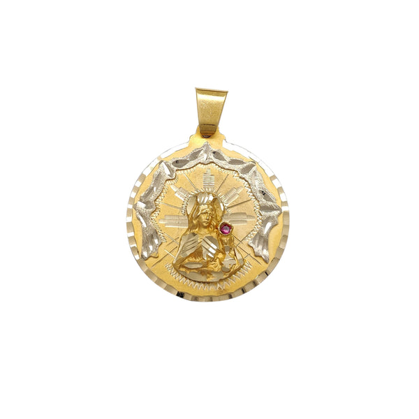 Two-Tone Diamond-Cut Saint Barbara Medallion Pendant (14K)