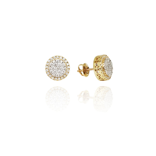 Diamond Sun Cluster Earrings (14K)
