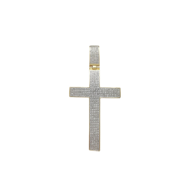 Diamond Iced-Out Cross Pendant (10K) Popular Jewelry Νέα Υόρκη