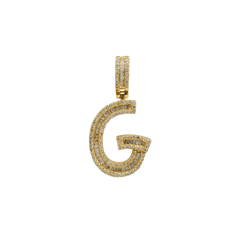 "Diamond Initial Letter ""G"" Pendant (14K) Popular Jewelry New York"