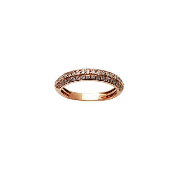 Diamond Macro-Pave Rose Gold Ring (14K) Popular Jewelry New York