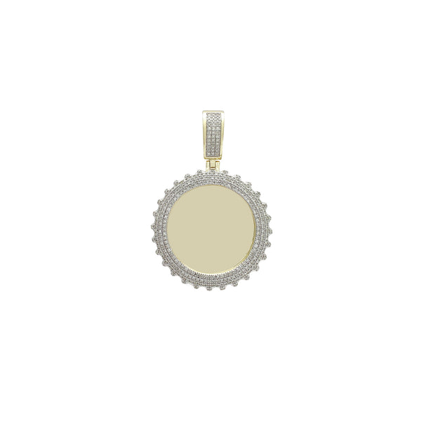 Yellow Gold Diamond Memorial Picture Medallion Pendant (14K) Popular Jewelry Νέα Υόρκη
