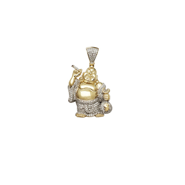 Diamond Money Buddha Pendant (10K)
