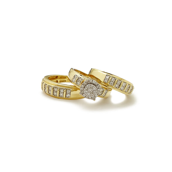 Diamond Pave Stack 3-delt sett ringer (14K) Popular Jewelry New York