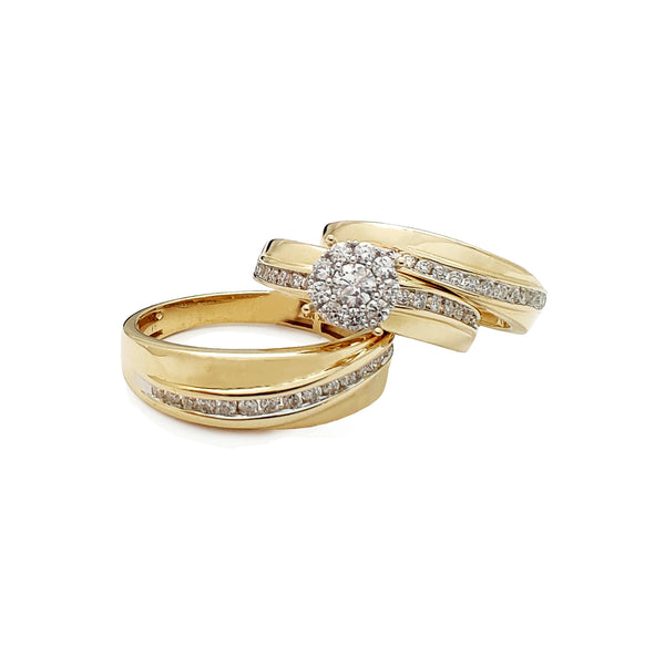 Diamond Regal Pave Channel Setting 3 Piece Set Ring (14K) Popular Jewelry Nûyork