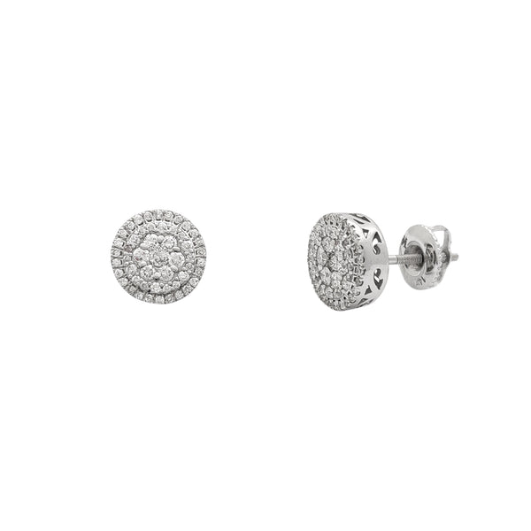 Diamond Round Cluster Stud Earrings (14K) Popular Jewelry New York