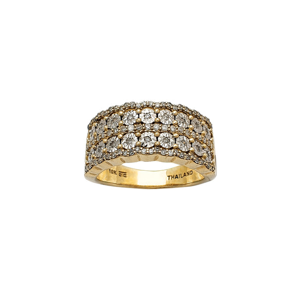 Diamond Two-Tone Ring (10K) Popular Jewelry New York