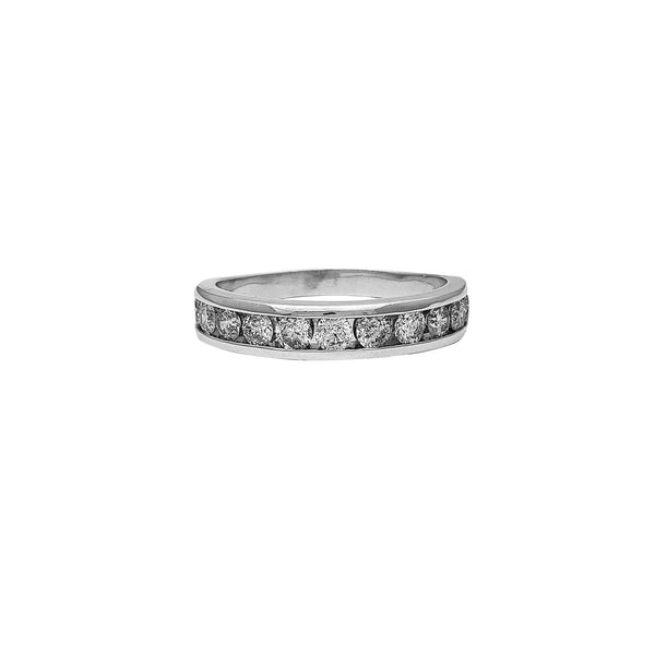 Diamond White Gold Wedding Band Ring (10K) Popular Jewelry New York