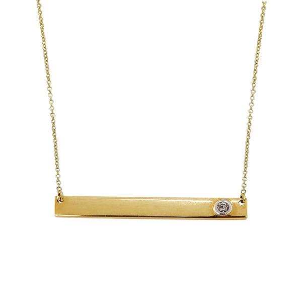Diamond Bar Necklace (14K) Popular Jewelry New York