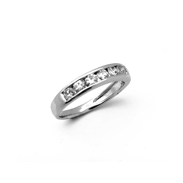 Diamond Channel Set Wedding Ring (14K) Popular Jewelry New York