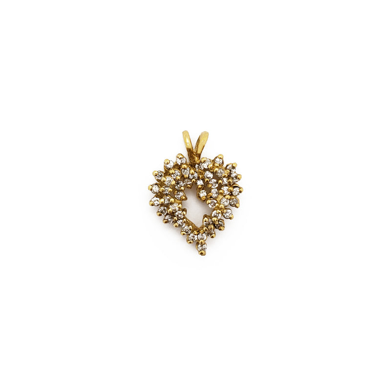 Diamond Cluster Heart Pendant 14K - Lucky Diamond 恆福珠寶金行 New York City 169 Canal Street 10013 Jewelry store Playboi Charlie Chinatown @luckydiamondny 2124311180