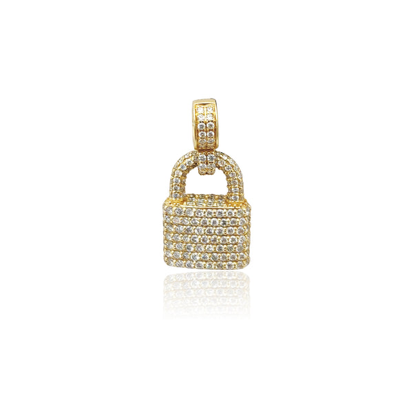 Diamond Iced-out Padlock Pendant (14K) Popular Jewelry New York