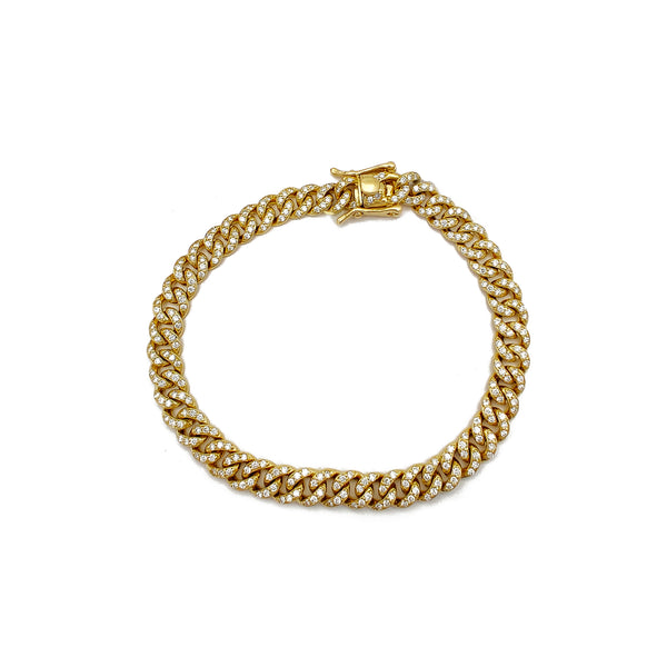 Diamond Miami Kúbu armband (14K) Popular Jewelry Nýja Jórvík