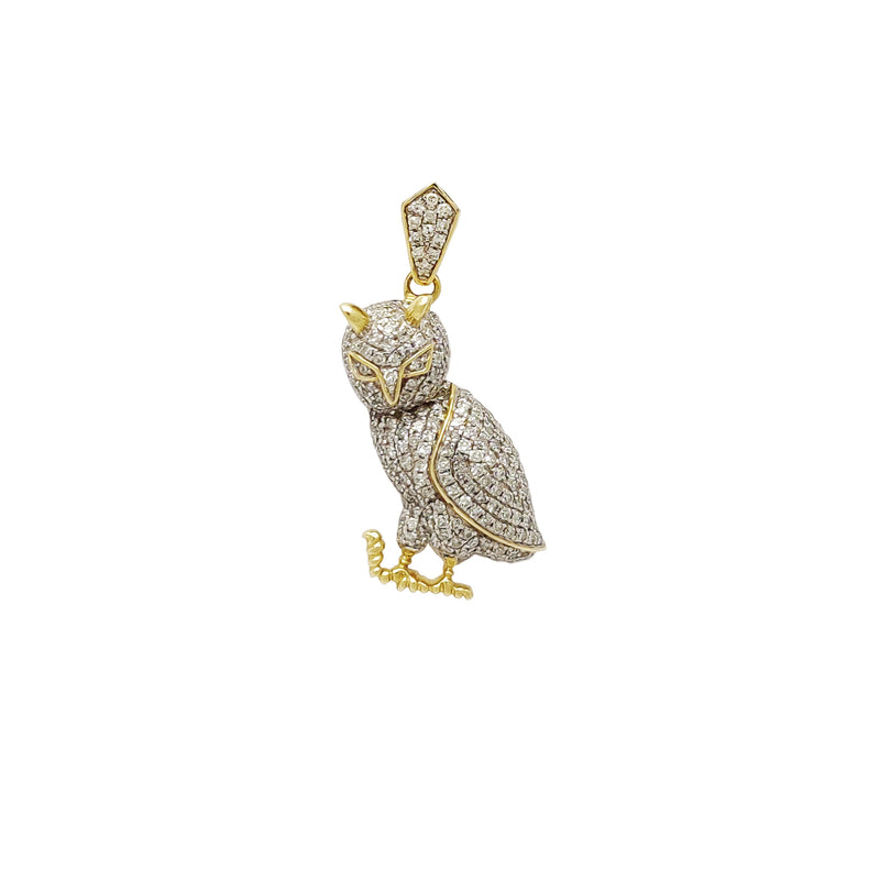 Diamond Owl Pendant (14K) Popular Jewelry New York