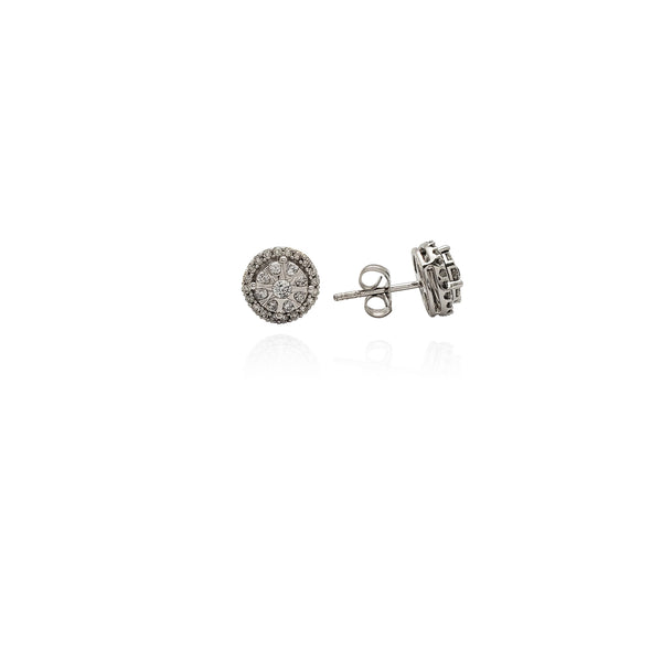 Diamond Round Star Design Earrings (10K) New York Popular Jewelry