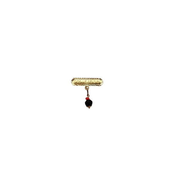 Dios Te Bendiga Black Onyx Brooch/Pin (14K) Popular Jewelry New York