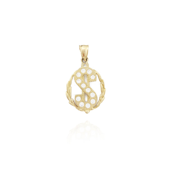 Dollar Sign CZ Pendant (10K)