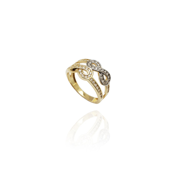 Double Infinity CZ Ring (14K)