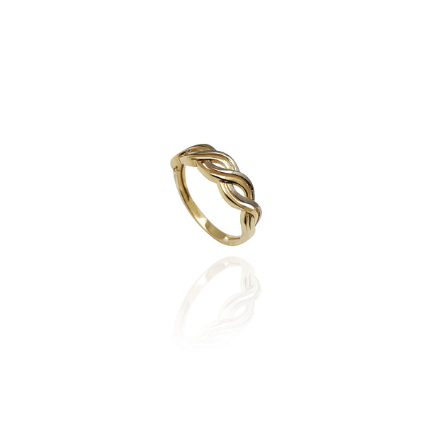 Double Looping Ring (14K)