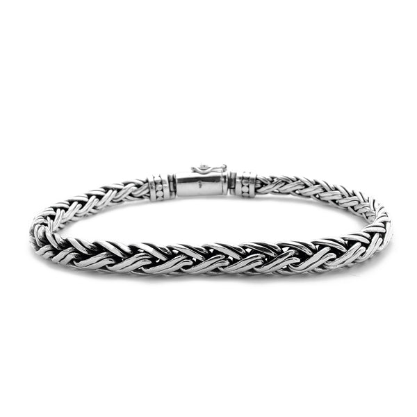 Double Braided Bracelet (Silver) Popular Jewelry New York