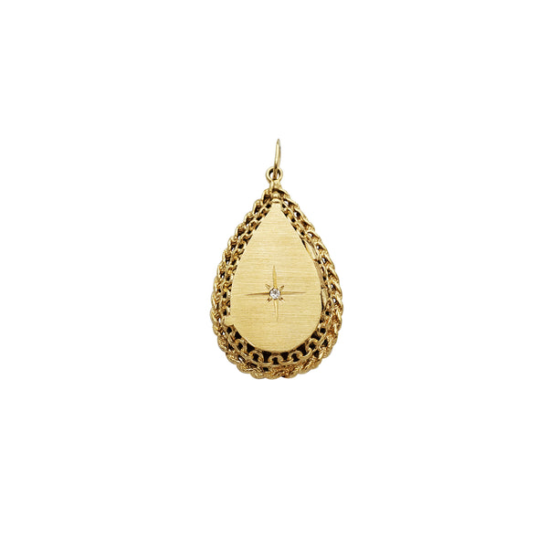 Drop Shape Locket Pendant (14K)