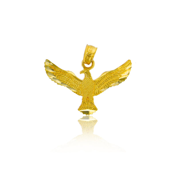 Yellow Gold Spread Eagle Dangling Pendant (14K)