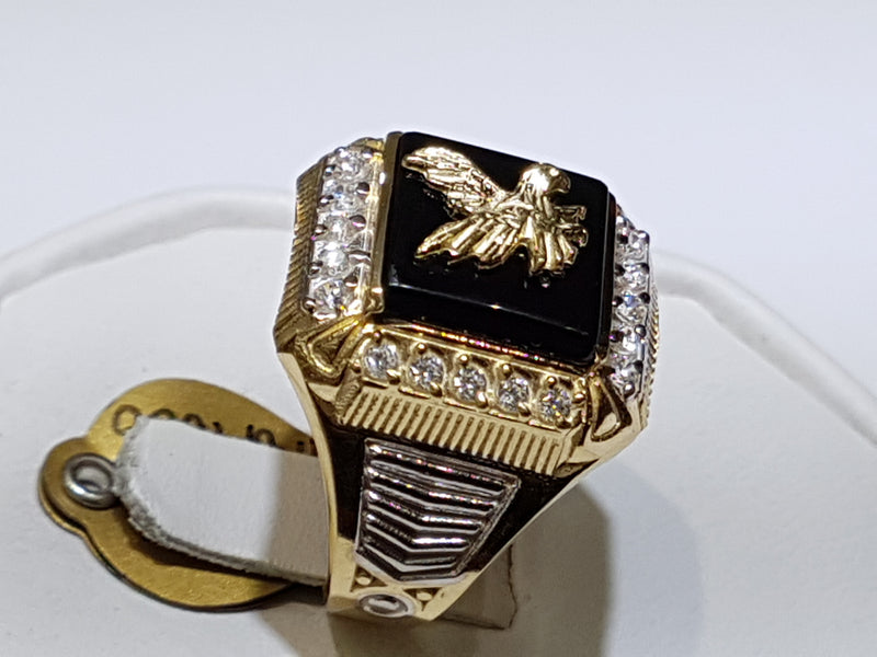 products/Eagle-Ring-Onyx-CZ-Cubic-Zirconium-Zirconia-Prong-14K-Yellow-Candid_2.jpg