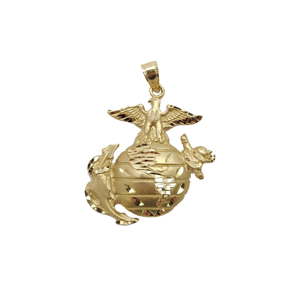 Eagle, Globe and Anchor, EGA Pendant (14K).