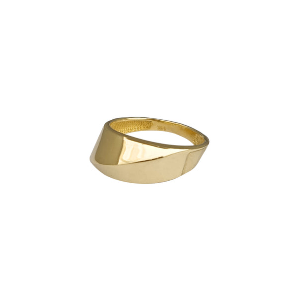 Edged Polygonal Ring (14K) Popular Jewelry New York