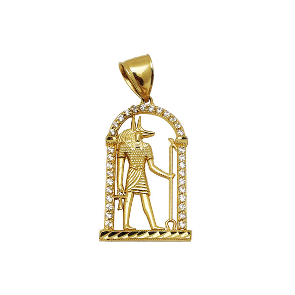 Egyptian Anubis CZ Pendant (14K) Popular Jewelry New York