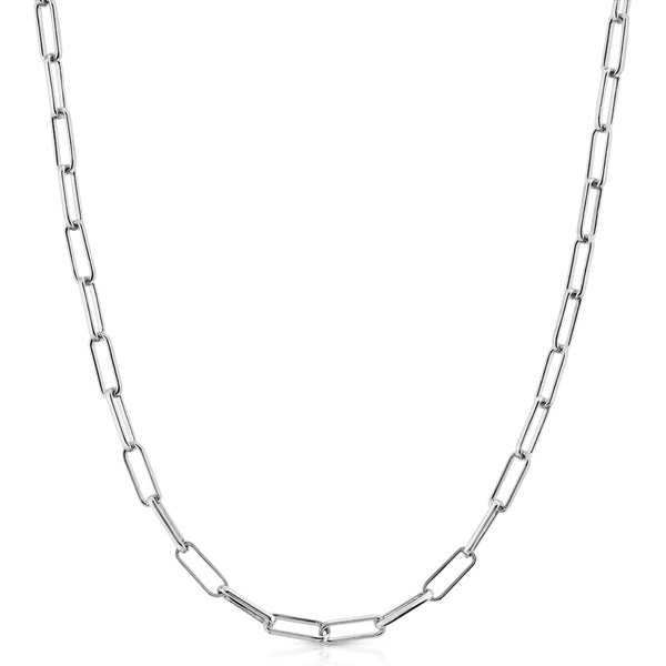 Elongated Cable Chain (Silver) Popular Jewelry New York