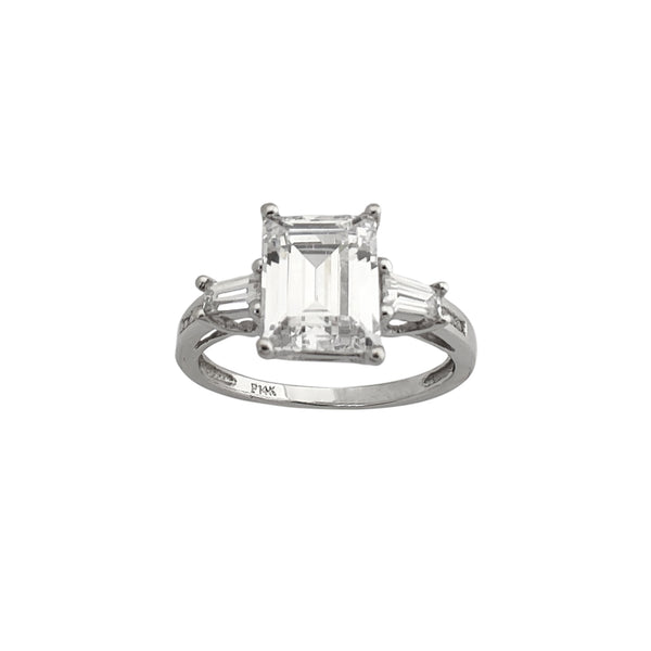 Emerald Cut & Baguette Anniversary Ring (14K) Popular Jewelry New York