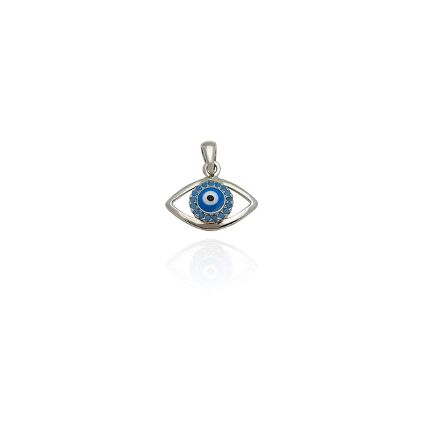 Colgante Evil Eye CZ (Prata) Nova York Popular Jewelry