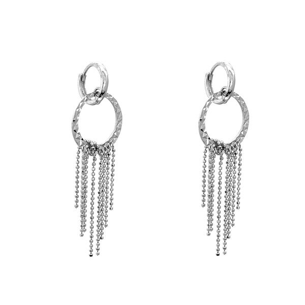 Zanno Hoop Tassel Drop Earrings (14K)