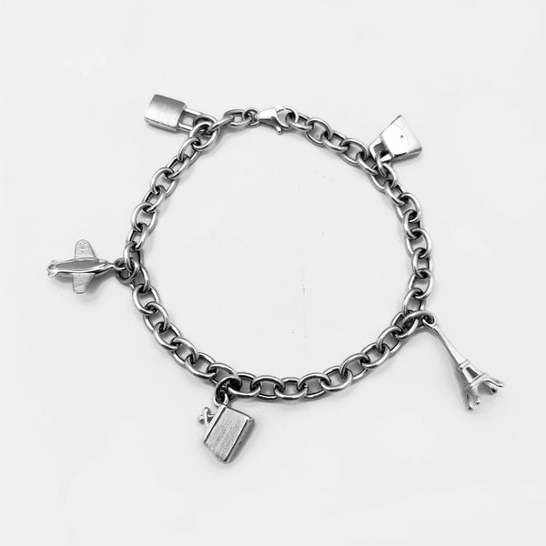 Fancy Fashion Charms Cable Bracelet (14K) Popular Jewelry New York