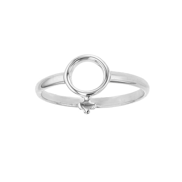 (Female) Gender Symbol Ring (Silver) Popular Jewelry New York