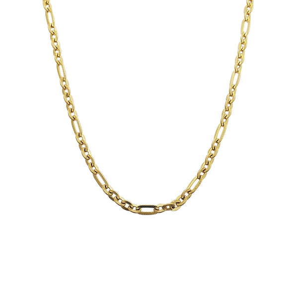Figaro Cable Necklace (14K)