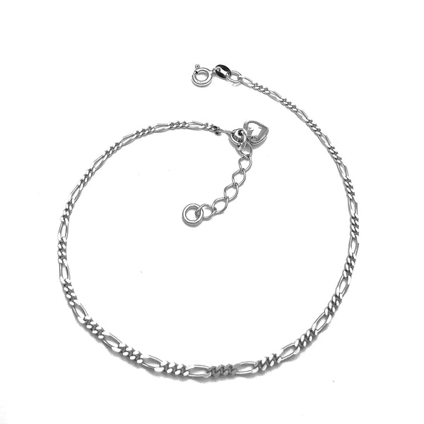 Figaro Heart Anklet (Silver)