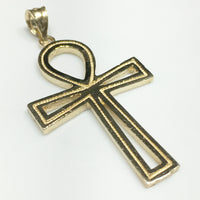 Ankh Pendant 14K (Textured) - Popular Jewelry