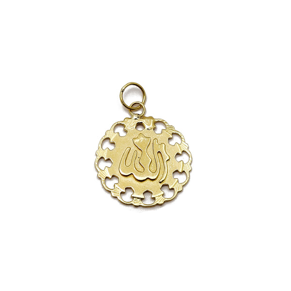 Filigree Frame Allah Pendant (14K) Popular Jewelry New York