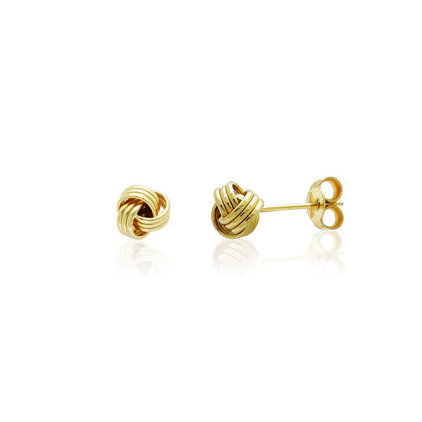 Love Knot Stud Earrings Gold (14k) 14 Karat Yellow Gold, Popular Jewelry New York